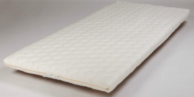 Topper Pad 5cm Latex with Wool and Knitted Cover, Single (Top View)