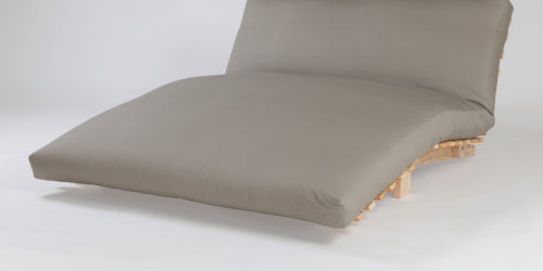 Futonz Siesta Sofa Bed with Latex Core Futon and Charcoal Cover